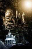 Bayons Angor-Wat-Cambodia