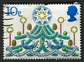UK - CIRCA 1980: A stamp printed in UK shows image of The Christmas Tree, circa 1980.