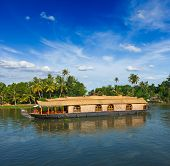Houseboat on Kerala backwaters. Kerala, India