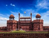 Fondo de Turismo de viajes India - \Red Fort (Lal Qila) Delhi - patrimonio de la humanidad. Delhi, India