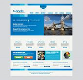 Website template for corporate business and cloud purposes. Ideal for company blogs with high class