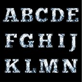 Shiny diamond alphabet letters (uppercase) - eps10