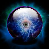 foto of witchcraft  - Crystal Ball - JPG