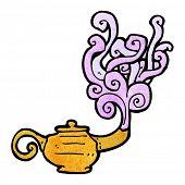 picture of genie  - cartoon genie in lamp - JPG