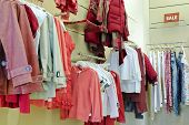 Deprtment of sales in clothing store