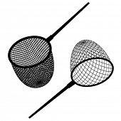 vector fishing net black icon