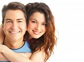 picture of loving_couple  - Young love couple smiling - JPG