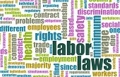stock photo of labourer  - Labor Laws in the Workplace as Concept - JPG
