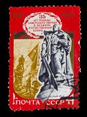 USSR - CIRCA 1980: A stamp printed in USSR, Monument to Unknown