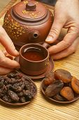 Chinese tea, and dried fruits