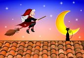 stock photo of epiphany  - an illustration of funny Epiphany at moonlight with moon - JPG