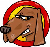 Bad Dog Sign Cartoon Illustration