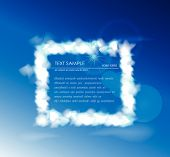 Cloud collection Frame with space for text
