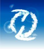 Cloud collection Arrow sign