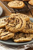 Chocolate Chip Peanut Butter Pinwheel Cookie