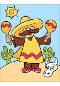Mexican Maraca Player