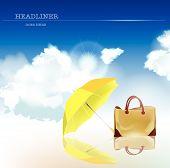 bag and umbrella