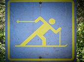 Cross Country Skiing Signboard