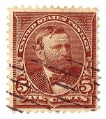 United States Stamp of a Portrait of Ulysses S. Grant