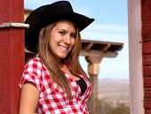 Pretty teen model cowgirl