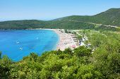 stock photo of nudist beach  - Jaz is a beach in the Budva Municipality in Montenegro - JPG