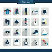 Winter sport icon. Vector illustration.