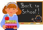 Cute Girl Goes Back To School