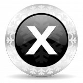 cancel christmas icon