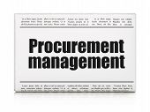 Business concept: newspaper headline Procurement Management