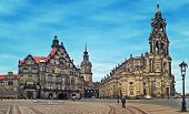 DRESDEN, GERMANY - JULY 09: Dresden Cathedral - most important Catholic church located in historic c