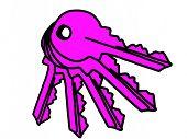 Pink keys
