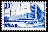 Briefmarke Saar, Deutschland 1953 Saar-Universitätsbibliothek