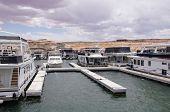 Pier For Houseboatsand Boats In Lake Powell