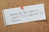 image of ignore  - The phrase Send me an email and I - JPG