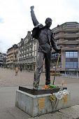 Freddie Mercury Statue On Waterfront Of Geneva Lake, Montreux, Switzerland