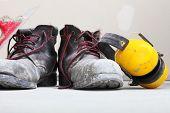 Construction Equipment Work Boots Noise Muffs