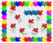Jigsaw Drop-down Puzzle  2013- 2014  - Wishful Thinking 1