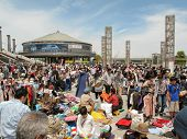 Flea Market At Nissan Stadium In Shin-yokohama, Japan
