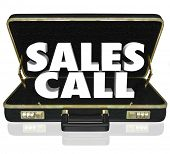 Sales Call Briefcase Selling Presentation Proposal