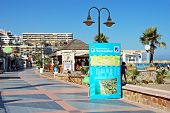 Seaside promenade, Torremolinos, Spain.