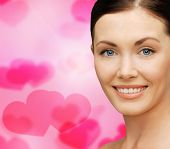 healthcare, spa and beauty concept - face of beautiful woman
