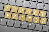 Impact factor key on keyboard