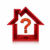 Graphic For Real Estate Business With Question Mark
