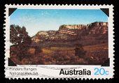 AUSTRALIA - CIRCA 1979: A Stamp printed in AUSTRALIA shows the Flinders Ranges, South Australia, National Parks series, circa 1979
