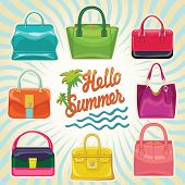 Multi-coloured Fashion Women's Handbag.hello Summer