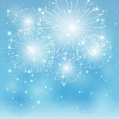 picture of blue  - Blue fireworks