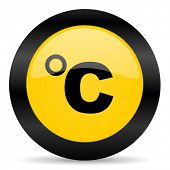 celsius black yellow web icon
