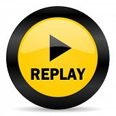 replay black yellow web icon