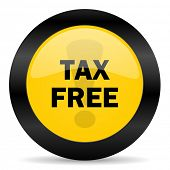 tax free black yellow web icon