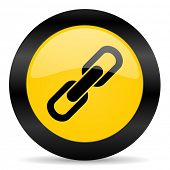 link black yellow web icon
